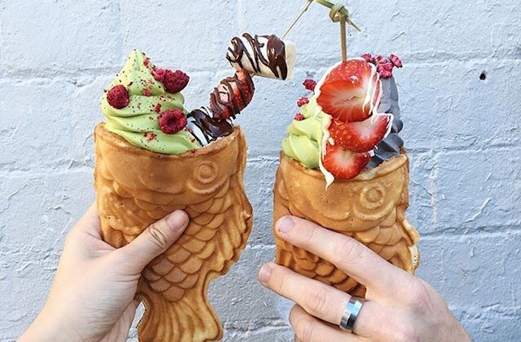 Have you tried perth s newest ice cream sensation perth for Fish shaped ice cream cone